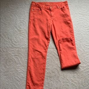 Michael Kors Orange 3/4 Cropped Pant